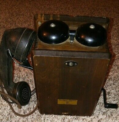 1950's Northern Electric Crank Magneto Wall Phone. Amazing Condition!