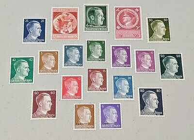 Stamp Pickers Germany WWII Nazi Adolf Hitler Issue Mint Collection Lot MNH MH NG