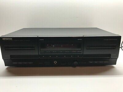 Kenwood KX-W4070 Stereo Double Cassette Tape Deck Player Auto, Reverse