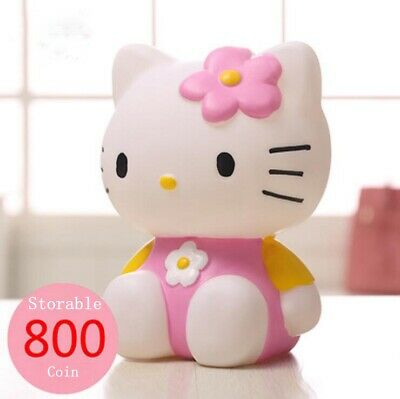 Cute Hello Kitty Silicone Vinyl Piggy Bank for Girls Birthday Gift Decoration