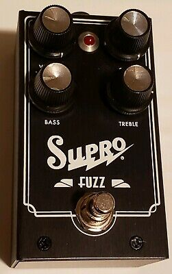 Supro 1304 Fuzz Effects Pedal 20mA  9-18V DC Black