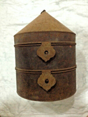 19Th Century Qing Chinese Mandarin Official Hat Metal Box For 2 Hats
