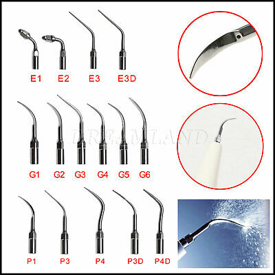 15 Type Dental Scaling Perio Endo tip INSERTI / PUNTE f/ ABLATORE EMS WOODPECKER