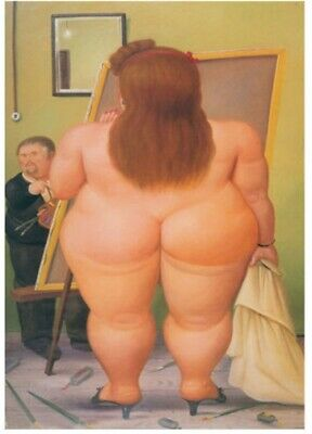 Fernando botero Hand-Painted oil painting wall art home decor 24x36 inch #03