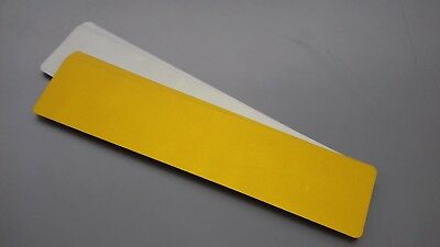 BLANK NUMBER PLATE REFLECTIVE FILMS 50 X REAR 520X111MM