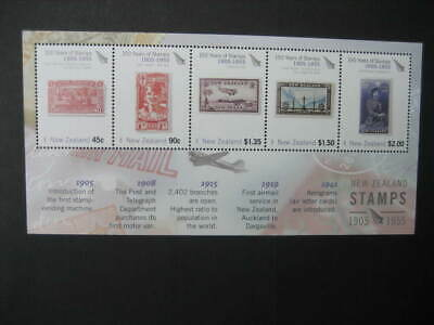 NEW ZEALAND NHM MINIATURE SHEET- 2005 STAMP ANNIVERSARY(2nd issue)  SG MS 2782