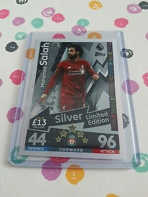 Match Attax Extra 2018/19 Mohamed Salah Silver Limited Edition Le12S Mint