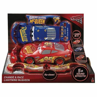 Disney Pixar Cars 3 Change and Race Lightning McQueen Toys 5 Sounds *3 Cars in 1