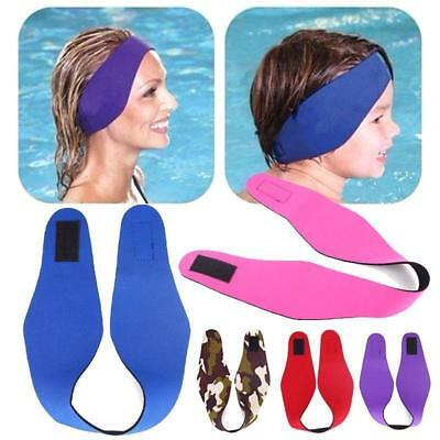Kids Adult Ear Band Headband Summer Swimming Waterproof Bathing Head Protector