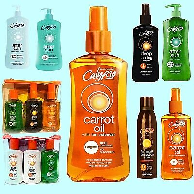 Calypso Carrot Oil Spf 0 /6/ Deep Tan 2 /15/ After Sun / Lotion / Repellent/ Kit