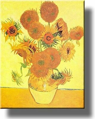 Vase and Fifteen Sunflowers Painting by Vincent van Gogh Picture on Acrylic , Wa