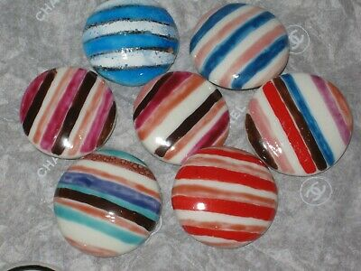 Chanel 7 Ceramic  Buttons  22 Mm / 1'' New Lot 7 No Cc Logo Mixed Colors