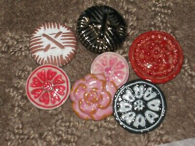 Chanel 7 Ceramic  Buttons  14-21 Mm New Lot 7 No Cc Logo Mixed Colors