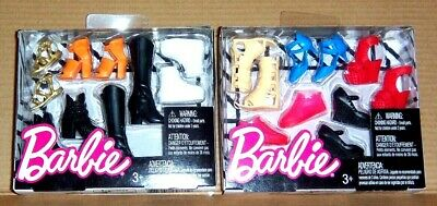 Lot of 2 - 5 Packs of BARBIE Shoes & Boots - (10 Pair Total)