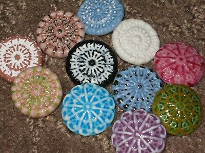 Chanel 11 Ceramic  Buttons  17-18 Mm New Lot 11 No Cc Logo Mixed Colors