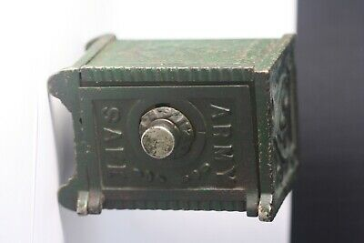 Wing Cast Iron/Steel Army Safe Coin Bank. Inherited from Grandfather.VERY RARE!.