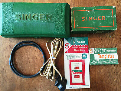 Vintage Singer Sewing Machine Buttonhole Attachments, Templates, Belts, Manuals