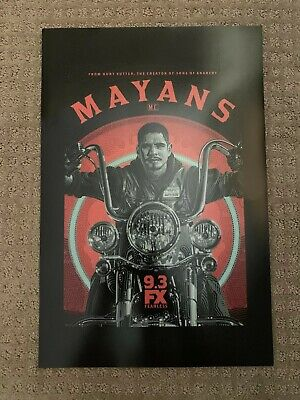"""SDCC 2019 MAYANS POSTER 12""""x18"""" COMIC CON EXCLUSIVE FOX FX FEARLESS RARE HTF"""