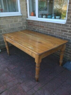 Antique Victorian Farmhouse Table