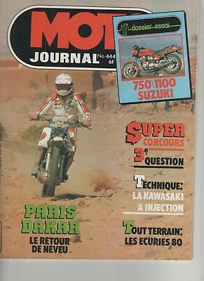 MOTO JOURNAL N°444 1980 Suzuki 1100 750 GSX  Paris-Dakar  Kawasaki à injection