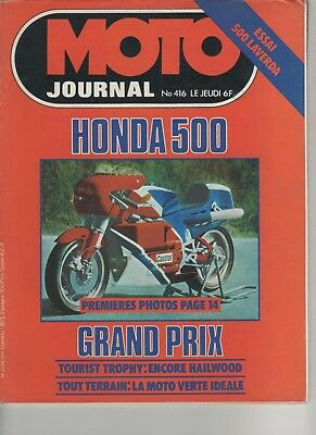 MOTO JOURNAL N°416 1979 LAVERDA 500 Tour De France - Kawasaki 1000