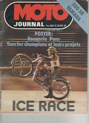 "MAGAZINE MOTO JOURNAL N°350  1978 Kit 50 cantilever ""Charly""  - Yamaha 500 SR"