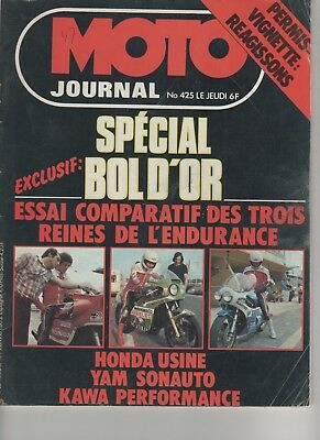 Moto Journal 425 1979 Comparatif : Honda Rcb  Kawasaki Performance  Yamaha Ow 31