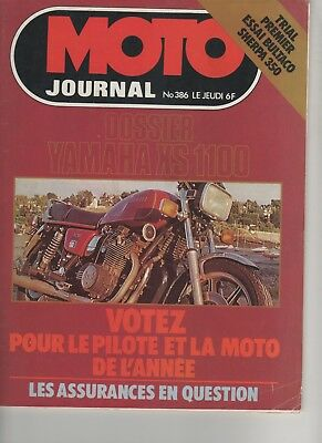 MOTO JOURNAL N°386  1978 Yamaha XS 1100 - Bultaco Sherpa 350  - Paris Dakar