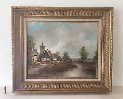 FINE 18TH CENTURY Dutch Oil Painting On Wood Panel - Lady At