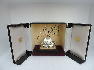 Rare Japanese Sterling Silver Sugawara Michizane God Of Scholarship Figurine