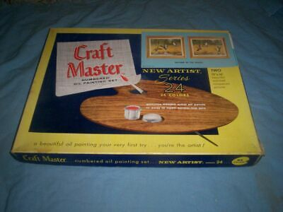 Vintage Craft Master Paint By Number Set Two 12X16 IN THE MARSH Duck Pictures