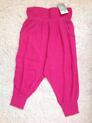 Girls Pink Summer Cuffed Trousers ~ Next ~ Age 4 Years Fits Age 3-4 Years ~ New!