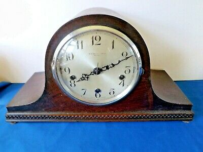 Antique / Vintage Enfield Twin Chime Whit / West Mantel Clock  For Restoration.
