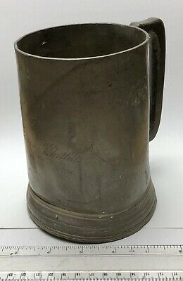 1800's Queen Victoria Huge Quart Pewter Tankard - engraved THOMAS WHITTEL