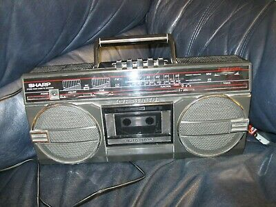 Vintage Sharp Stereo Radio Cassette Recorder  GF-3939 boombox