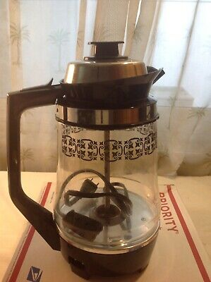 Vintage 1975 Proctor Silex Electric Percolator P2088 Glass Pot Coffee Maker