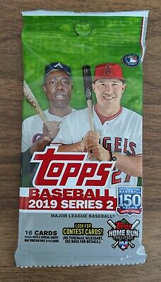 2019 TOPPS Series 2 BASEBALL MLB Retail PACK (x1) - 16 Cards!!! New and Sealed