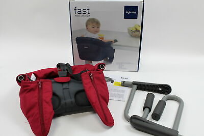 Inglesina Baby Toddler Fast Hook-On Table RED Chair + Dining Food Snack Tray