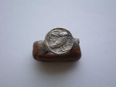 Very Rare Ancient Greek- Roman Legionary Silver Ring