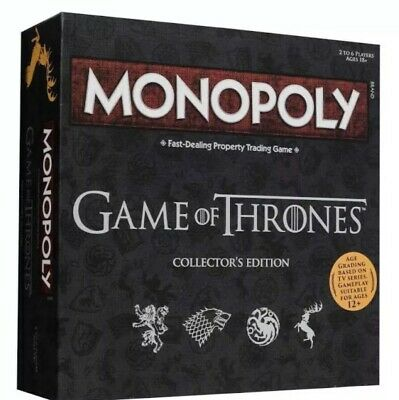Brand New Sealed Game Of Thrones Monopoly - Collectors Edition