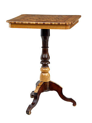 Late 19Th Century Walnut Inlaid Sorrento Table