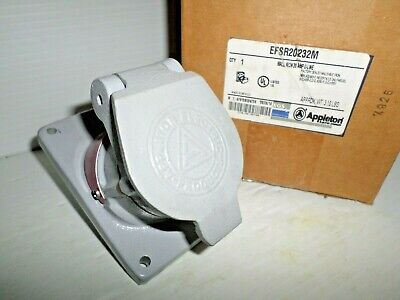 **NEW IN BOX** APPLETON EFSR20232M 20-Amp EXPLOSION PROOF RECEPTACLE 20A  250Vac