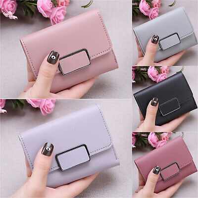 Womens Fashion Mini Wallet Ladies PU Leather Card Holder Clutch Handbag Purse