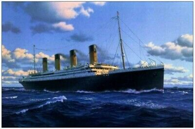 Titanic on ocean - seascape Hand-Painted oil painting wall art home decor 24X36""