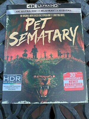 Pet Sematary 4K Ultra Hd + Blu-Ray + Digital Dvd Brand New With Slip Cover