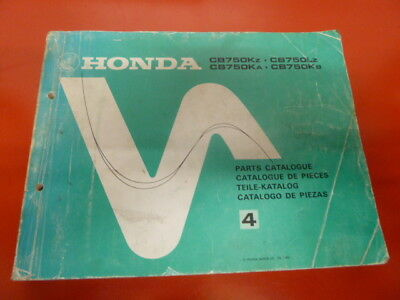 Honda CB750KZ K cb 750 Original Genuine Parts List Book werkstatt handbuch no 4