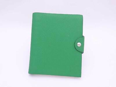 Auth HERMES Ulysse Note Cover with Blank Notebook Bamboo Leather - e41467