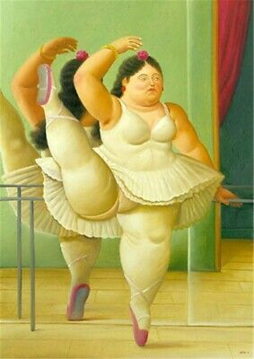 Fernando botero Hand-Painted oil painting wall art home decor 24x36 inch #02