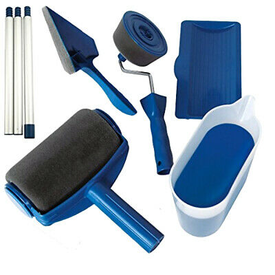 Whole Set Paint Roller Brush Handle Pro Flocked Edger Room Wall Painting Runners
