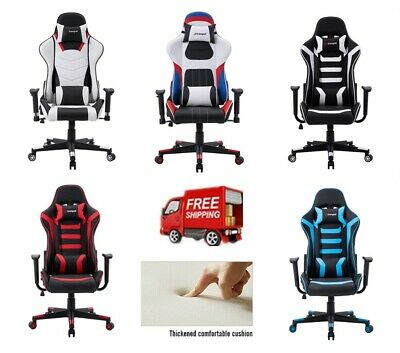 Racing Gaming Chair Office Executive Computer Desk Chair PU Leather Adjustable